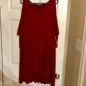 Size 3 - Red Cold Shoulder Dress